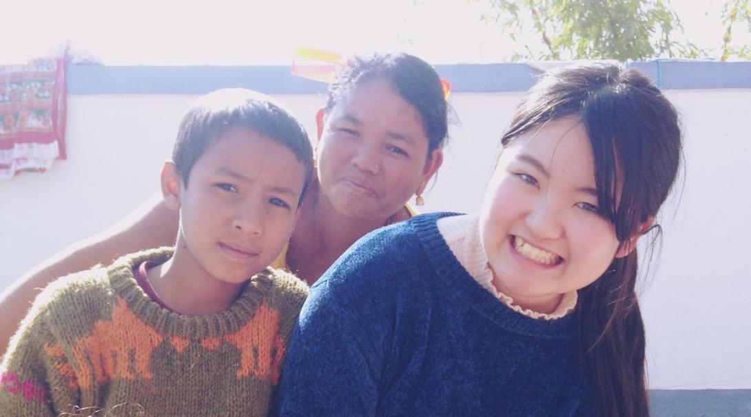 ネパールでチャイルドケア 徳丸実莉
